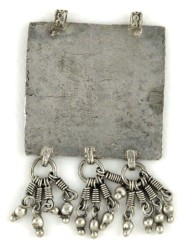 Antique Folk Image Amulet Himachal Pradesh Back