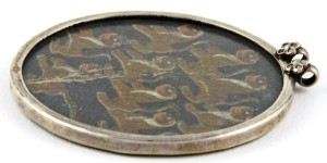 Antique Mughal Ganjifa Playing Card  Pendant
