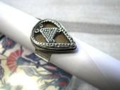Kazakstan Style Silver  Ring, 6.5 Grams,  USD $45.00