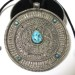 Antique Tibetan Silver,Turquoise Gau or Ghau Box Top Pendant,72 Grams