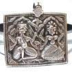 Vintage High Grade Silver, Ganesh and Pavarti Amulet, Rajasthan, India, 17.6 Grams