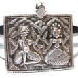 Vintage Ganesh and Pavarti Amulet, Rajasthan, India, 17.6 Grams