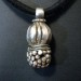 Antique Solid Silver Tikka Gajre Ball Pendant, Rajasthan, India, 16.6 Grams