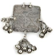 Antique Silver Folk Goddess Amulet, Himachal Pradesh