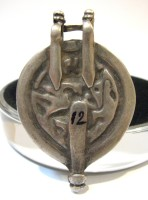 19th Century Silver Hanuman Amulet Pendant - Back