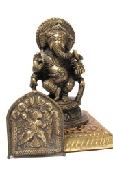 Antique Brass Hanuman Alter Puja Amulet