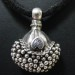 Antique Indian Pendant, Solid Silver Tikka Gajre Ball, Rajasthan, India, 10.3 Grams