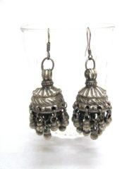 Vintage Indian Silver Jhumka Earrings