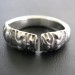 Vintage Indian Ring, Makara Heads High Grade Silver Ring, Rajasthan, India, 7 Grams