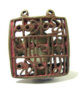 Indian Cast Brass Sectarian Body Stamp - Chhapa