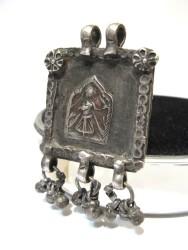 Antique Indian Amulet, 19th Century Hoi Mata Amulet