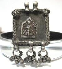 Antique Indian Amulet, Goddess Devi