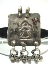 Antique Indian Amulet, 19th Century Hoi Mata Amulet Pendant - Back