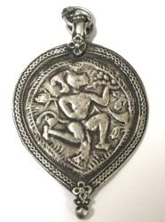 Antique Hanuman Amulet Pendant