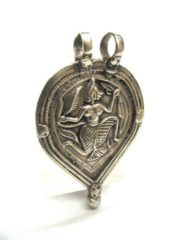 Antique Indian Amulet, Hanuman Pendant