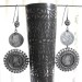 Vintage Indian Silver Earrings,Coins Simulating One Rupee and 1/4 Rupee Coins, Maharashtra, India, 28.6 Grams