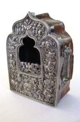 Antique Tibetan Gau, Ghau Shrine, High Grade Silver