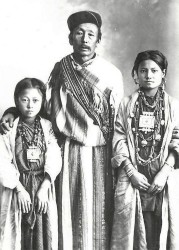 Tibetan Gau Box, Lepcha Rong Family with Gau Boxes, c. 1930's