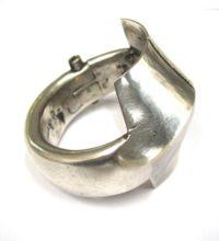 Antique Indian Silver Cuff Bracelet, Kadla Bracelet
