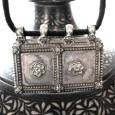 Antique Indian Amulet, Silver Rectangular House, Family Unity Pendant, Rajasthan, India, 28.4 Grams (No.2)