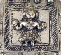 Antique Silver Sanjhi Devi Amulet Pendant