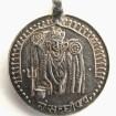 Small Vintage Indian Amulet, Mother Goddess Sachiya Mata Pendant, Rajasthan, 3.2 Grams
