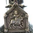 Antique Indian Amulet, Goddess Durga Pendant, High Grade Silver,Rajasthan, India,17 Grams