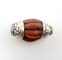 Vintage Tibetan Carnelian Pema Raka Bead Pendant