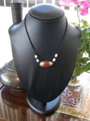 Vintage Tibetan Carnelian Pema Raka Bead