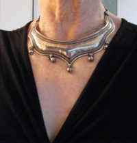Antique Rajasthani Silver Torque, Hansuli, Choker Necklace