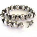 19th Century, South Indian Bracelet, Armlet or Anklet, High Grade Silver, 45 Grams