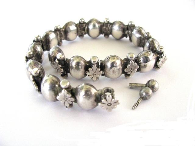 Antique South Indian Silver Bracelet, Anklet, Armlet
