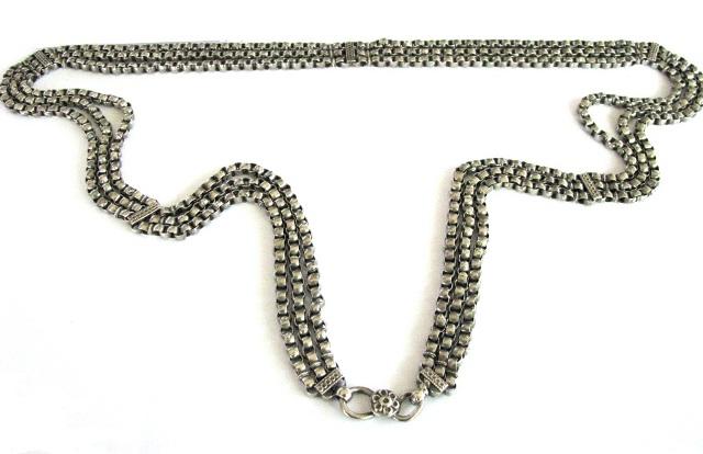 Antique Indian Silver Linked Belt, Indian Belly Dance Belt
