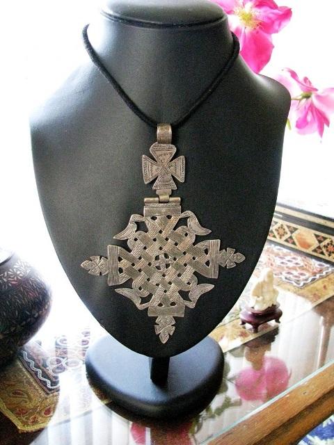 Antique Lalibela Ethiopian Coptic Cross Pendant