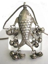 Antique Indian Amulet Pendant, Himachal Pradesh