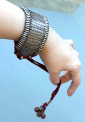 Antique Rajasthani Silver Bazuband, Armlet, Bracelet