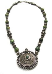Antique Madhya Pradesh Ear Plug Pendant Necklace