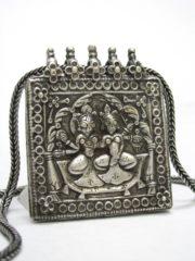 Antique Indian Amulet, Shiva and Pavarti