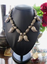 Antique-Turkmen-Afghani-Boteh-Necklace-Central-Asia-