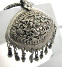 Vintage Sri Lanka Silver Pendant, Padakam, Sinhalese, Kandy