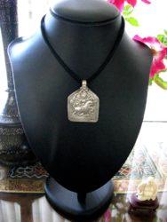 Antique Indian Amulet, Goddess Durga Patri