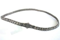 Vintage Indian Silver Snake Chain Belt