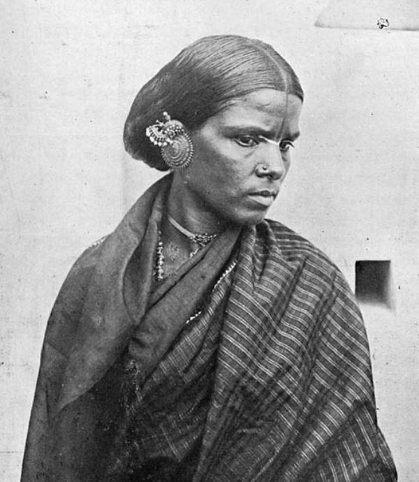 Indian Woman with Earplug, Early 1900's