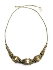 Antique Sri Lanka SilverGilt, Filigree Beads Necklace