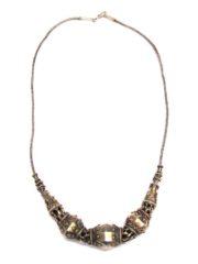 Antique Sri Lanka Silver Gilt Beads Necklace