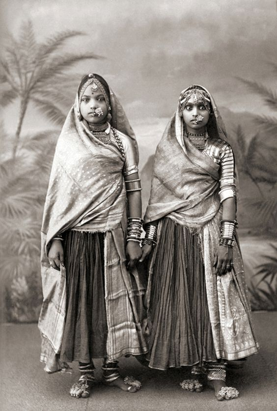 Two Marwari Women, India, c. 1850's probably by Taurines