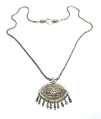 Antique Sri Lanka Silver Pendant, Padakam, Sinhalese, Kandy