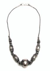Antique Sri Lanka Silver Beads Necklace