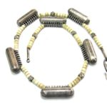 Antique Indian Taviz Necklace, Indian Prayer Box Necklace, Kerala, South India, 64 Grams, 51cm (20″)