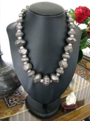Antique Sri Lanka Silver Lac Beads Necklace